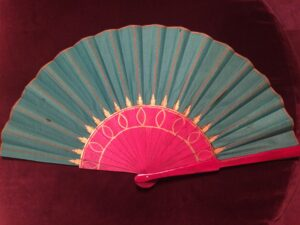 Ancient Egypt Inspired Handpainted Spanish Fan
