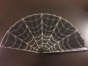 Glam Cobweb Handpainted Spanish Fan