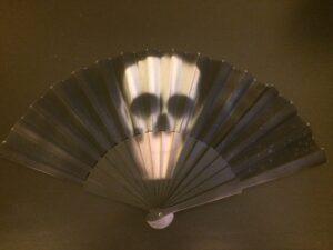White Skull Handpainted Spanish Fan