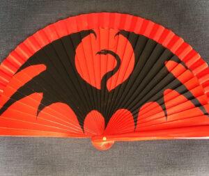 Black Dragon Handpainted Spanish Fan