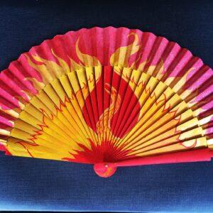 Phoenix Handpainted Spanish Fan
