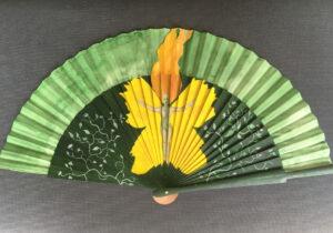 Green Fairy Handpainted Spanish Fan