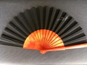 Mars Visitor Spanish Handpainted Folding Fan