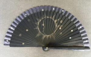 Sun and Moon Handpainted Spanish Fan