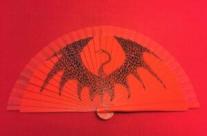 Diamond Scale Handpainted Spanish Fan