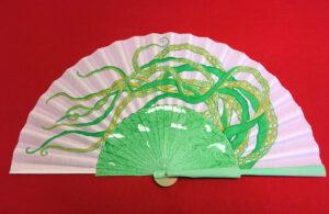 Tentacles Handpainted Spanish Fan