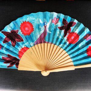 Purple Fairy Handpainted Spanish Fan