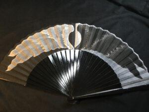 Good Omens Wings Handpainted Folding Fan