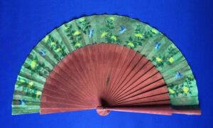 Blue Fairies Handpainted Spanish Fan